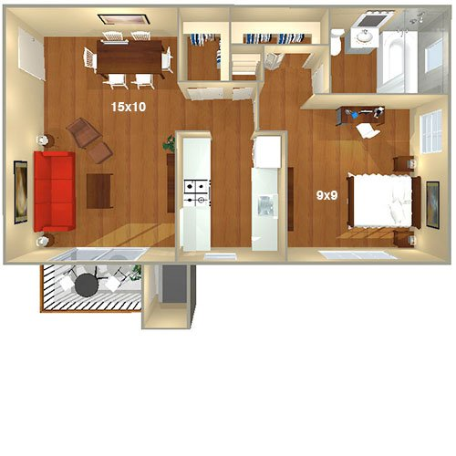 Foxchase Apartments Alexandria VA Floor Plans Classy One Bedroom Apartments In Alexandria Va